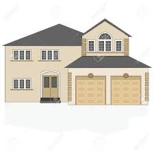 Big Car Garage by Illustration Of A Fancy North American Suburban Home With A Two