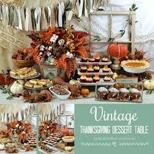 thanksgiving dessert table