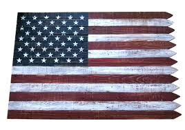 backyard expressions 24 x36 wooden flag wall picket edge