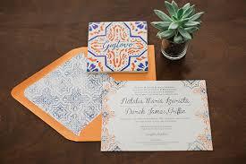 Wedding Invitation Companies Natalia U0026 Derek Spanish Tile Wedding Invitations Whimsy Design