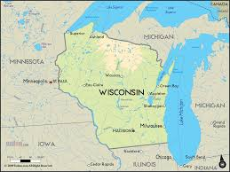 Wisconsin Road Map by Earth Cell Geography Life In Wisconsin The Cell Surface