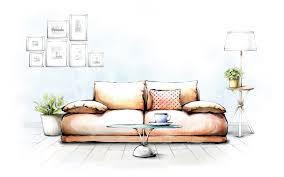 drawing interior sofa art wallpaperspics