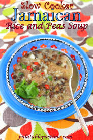 slow cooker jamaican rice and peas soup for sundaysupper