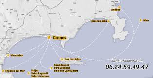 Cannes Map by Taxibateau Com