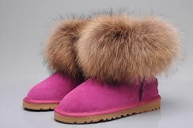 womens pink ugg boots uk ugg fox fur mini boots 5854 uggyi00000034 124 00