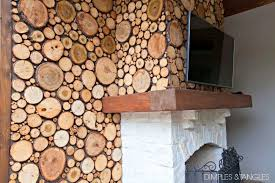 wood pieces for walls a dreamy patio wood disc wall dimples and tangles