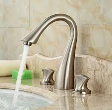 Amazon Bathroom Sink Faucets by Wovier Brushed Nickel Waterfall Bathroom Sink Faucet Two Https
