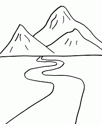 7 pics of color mountain coloring pages mountain scene coloring