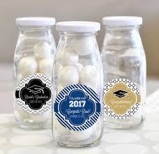 Unique Graduation Favors Personalized Graduation Favors Glass Milk Bottles Unique