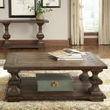 shop liberty furniture sedona oak coffee table at lowes com