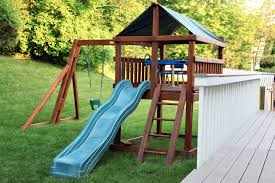 yes you can still have an outdoor playset in a small yard moms