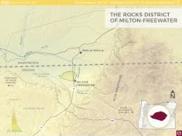 Oregon Wineries Map by The Rocks District Of Milton Freewater Ava Oregon Wine Resource
