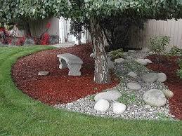 Pea Gravel Front Yard - triyae com u003d river rock backyard ideas various design