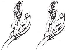 outline tribal virgo zodiac tattoo designs tattoo ideas