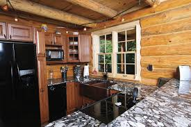 small log cabin kitchens kitchen rustic with l shaped kitchen