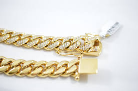 link bracelet with diamonds images 13mm 10kt diamond miami cuban link bracelet JPG