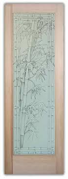Decorative Glass Doors Interior Bamboo Shoots 3d Pinstripe Etched Glass Doors Asian Decor