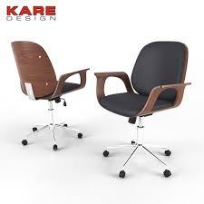 3d office chair kare design patron walnut cgtrader
