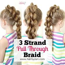 Toddler Hairstyles For Girls by 3 Strand Pull Through Braid Long Video Tutorial Easy Style For