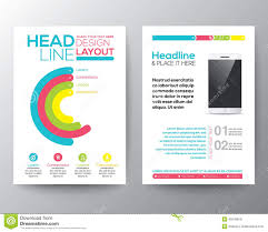 graphic design templates for flyers graphic design layout with smart phone concept template stock vector