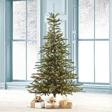 noble fir christmas tree pre lit noble fir artificial christmas tree grandin road modern
