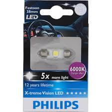 pep boys led lights philips 38mm festoon xtremevision led 6000k interior light 1 pack