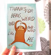 sloth valentines day card sloth card thank you card anniversary card valentines
