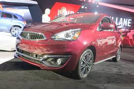 mitsubishi mirage hatchback 2015 2017 mitsubishi mirage gt shows its new face