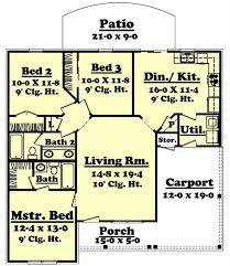 3 bed 2 bath house plans small traditional home floor plan three bedrooms plan 142 1004