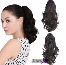 ponytail hair extensions wave real human hair ponytails hairpiece claw clip ponytail