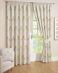 Floral Jacquard Curtains The Significance Of Cream Curtains Home And Textiles
