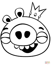 king pig laughing coloring page free printable coloring pages