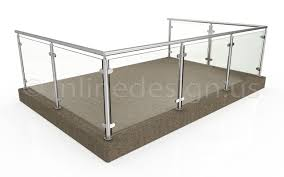 glass floor showroom modern stainless steel cable and glass railing inline