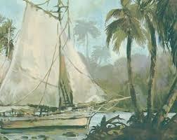 sailboat wallpaper etsy
