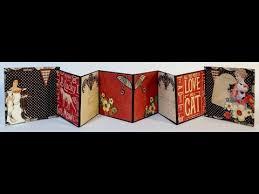 Accordion Photo Album How To Make A 3x3 Accordion Mini Album From Start To Finish Youtube
