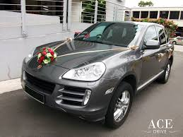 porsche gold porsche cayenne s wedding car decorations