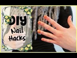 diy nail hacks youtube
