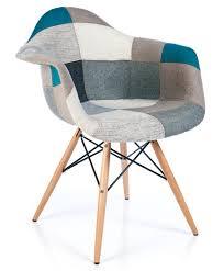 eames daw style xl patchwork armchair blue furnmod designer