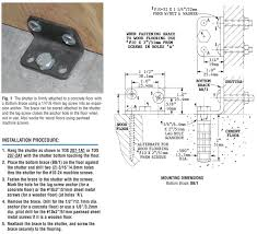 tds 209 3a1 floor attachment of shutters to wood or concrete