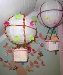 babyzimmer deko basteln diy kinderzimmer deko tipp heißluftballon selber machen le