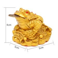 feng shui frog toad lucky money three legs gilded ingot coin for