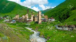Georgia landscapes images Country landscape in ushguli svaneti georgia stock photo jpg