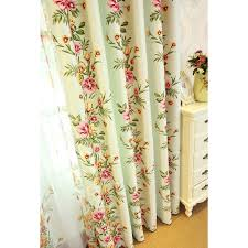 green floral print polyester beautiful shabby chic curtains