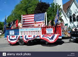 American Legion Flag Veterans On American Legion Float In Parade Stock Photo Royalty