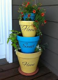 Painting Garden Pots Ideas Painting Clay Flower Pots Ideas Picsnap Info