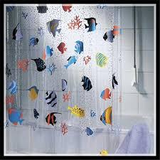 rideau de new creative shower curtain fish pvc bathroom products