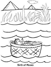 birth of moses coloring sheet wesleyan kids