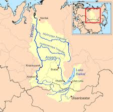 Asia Rivers Map by Yenisei River Basin Favorite Places U0026 Spaces Pinterest