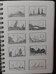 tranquil shores space art sketches