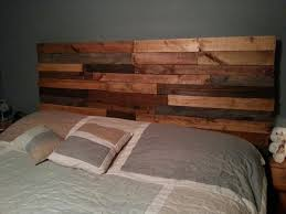 Wood Pallet Headboard Bedroom Beautiful Brown Wooden Headboard With Shelf Along With